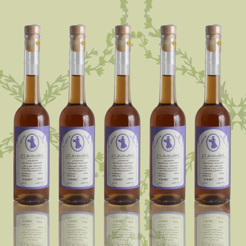 Etikettendesign Lavendellikör